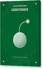 No013 My Caddy Shack Minimal Movie Poster Acrylic Print by Chungkong Art