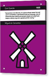 No027-my-don Quixote-book-icon-poster Acrylic Print by Chungkong Art