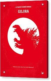 No029-1 My Godzilla 1954 Minimal Movie Poster Acrylic Print by Chungkong Art