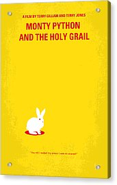 No036 My Monty Python And The Holy Grail Minimal Movie Poster Acrylic Print by Chungkong Art