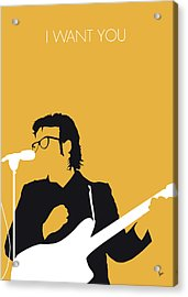 No067 My Elvis Costello Minimal Music Poster Acrylic Print by Chungkong Art