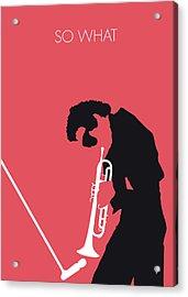 No082 My Miles Davis Minimal Music Poster Acrylic Print by Chungkong Art