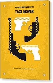 No087 My Taxi Driver Minimal Movie Poster Acrylic Print by Chungkong Art