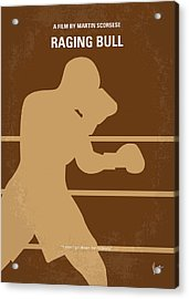 No174 My Raging Bull Minimal Movie Poster Acrylic Print by Chungkong Art