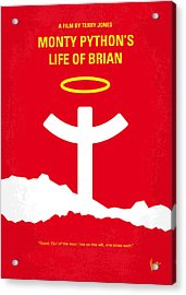 No182 My Monty Python Life Of Brian Minimal Movie Poster Acrylic Print by Chungkong Art