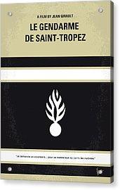 No186 My Le Gendarme De Saint-tropez Minimal Movie Poster Acrylic Print by Chungkong Art