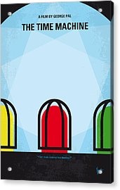 No489 My The Time Machine Minimal Movie Poster Acrylic Print by Chungkong Art
