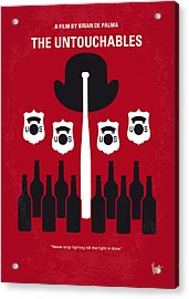 No463 My The Untouchables Minimal Movie Poster Acrylic Print by Chungkong Art