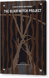 No476 My The Blair Witch Project Minimal Movie Poster Acrylic Print by Chungkong Art