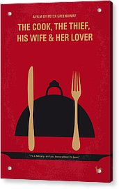 No487 My The Cook The Thief His Wife And Her Lover Minimal Movie Acrylic Print by Chungkong Art