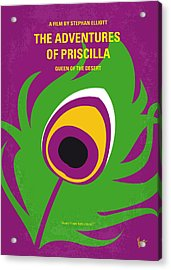 No498 My Priscilla Queen Of The Desert Minimal Movie Poster Acrylic Print by Chungkong Art