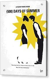 No500 My 500 Days Of Summer Minimal Movie Poster Acrylic Print by Chungkong Art
