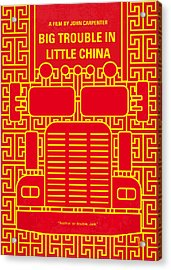 No515 My Big Trouble In Little China Minimal Movie Poster Acrylic Print by Chungkong Art