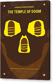No517 My The Temple Of Doom Minimal Movie Poster Acrylic Print by Chungkong Art