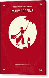 No539 My Mary Poppins Minimal Movie Poster Acrylic Print by Chungkong Art