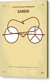 No543 My Gandhi Minimal Movie Poster Acrylic Print by Chungkong Art