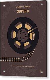 No578 My Super 8 Minimal Movie Poster Acrylic Print by Chungkong Art