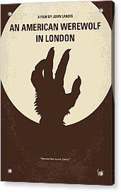 No593 My American Werewolf In London Minimal Movie Poster Acrylic Print by Chungkong Art