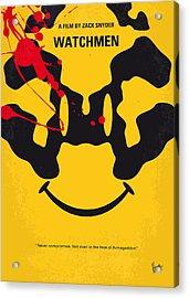 No599 My Watchmen Minimal Movie Poster Acrylic Print by Chungkong Art