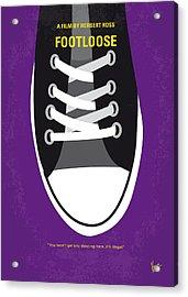 No610 My Footloose Minimal Movie Poster Acrylic Print by Chungkong Art