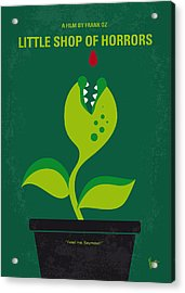 No611 My Little Shop Of Horrors Minimal Movie Poster Acrylic Print by Chungkong Art