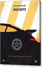 No627 My Bad Boys Minimal Movie Poster Acrylic Print by Chungkong Art