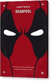 No639 My Deadpool Minimal Movie Poster Acrylic Print by Chungkong Art
