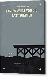 No650 My I Know What You Did Last Summer Minimal Movie Poster Acrylic Print by Chungkong Art