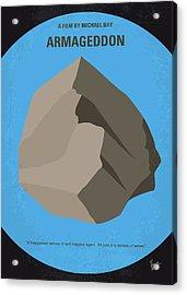No695 My Armageddon Minimal Movie Poster Acrylic Print by Chungkong Art