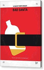 No702 My Bad Santa Minimal Movie Poster Acrylic Print by Chungkong Art
