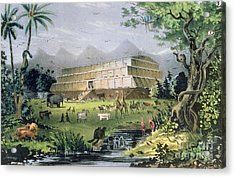 Noahs Ark Acrylic Print by Currier and Ives