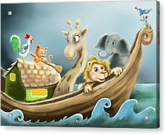 Noah's Ark Acrylic Print by Hank Nunes