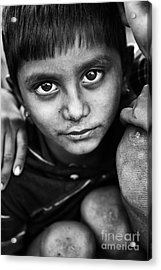Nomadic Rajasthan Boy Acrylic Print by Tim Gainey