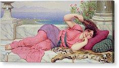 Noon Day Rest Acrylic Print by John William Godward