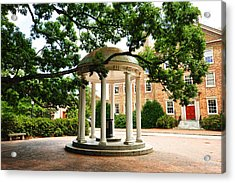 North Carolina A Student's View Of The Old Well And South Building Acrylic Print by Replay Photos
