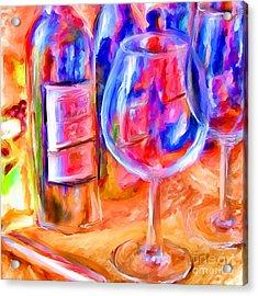 North Carolina Wine Acrylic Print by Marilyn Sholin