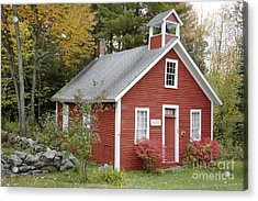 North District School House - Dorchester New Hampshire Acrylic Print by Erin Paul Donovan