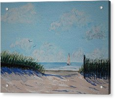 North Forest Beach Acrylic Print by Stanton Allaben