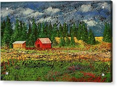 North Idaho Farm Acrylic Print by David Patterson