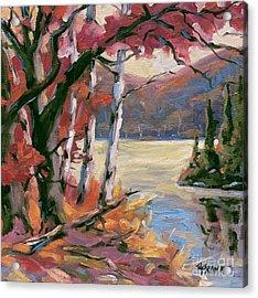 North Lake By Prankearts Acrylic Print by Richard T Pranke