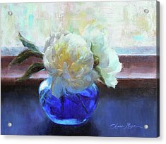 North Light Peonies Acrylic Print by Anna Rose Bain