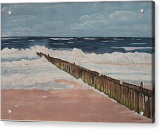 North Sea Sylt Acrylic Print by Antje Wieser