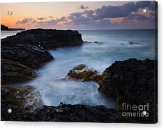 North Shore Tides Acrylic Print by Mike  Dawson
