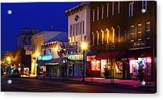 North Side Of East End Of Main Street Acrylic Print by Don Nieman