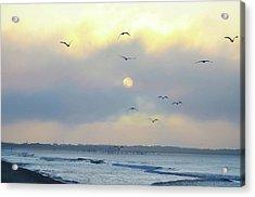North Wildwood Beach Acrylic Print by Bill Cannon