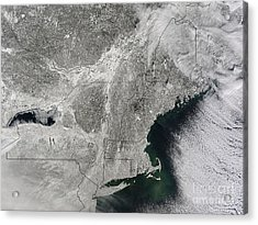 Northeast Winter 2015 Acrylic Print by Science Source