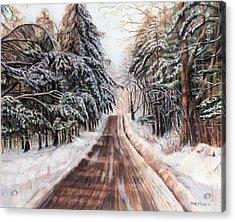 Northeast Winter Acrylic Print by Shana Rowe Jackson