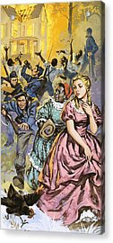 Northern Troops Looting The Homes Of Terrified Southerners Acrylic Print by Angus McBride