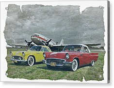 Nostalgia Airlines Acrylic Print by Steven Agius