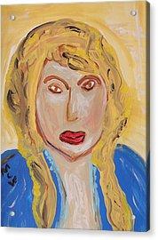 Not An Angel Acrylic Print by Mary Carol Williams